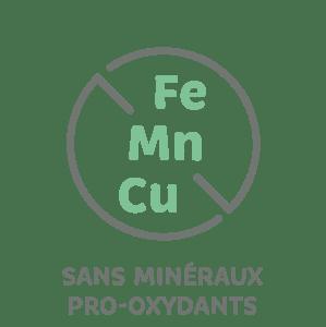 sans minéraux pro-oxydants